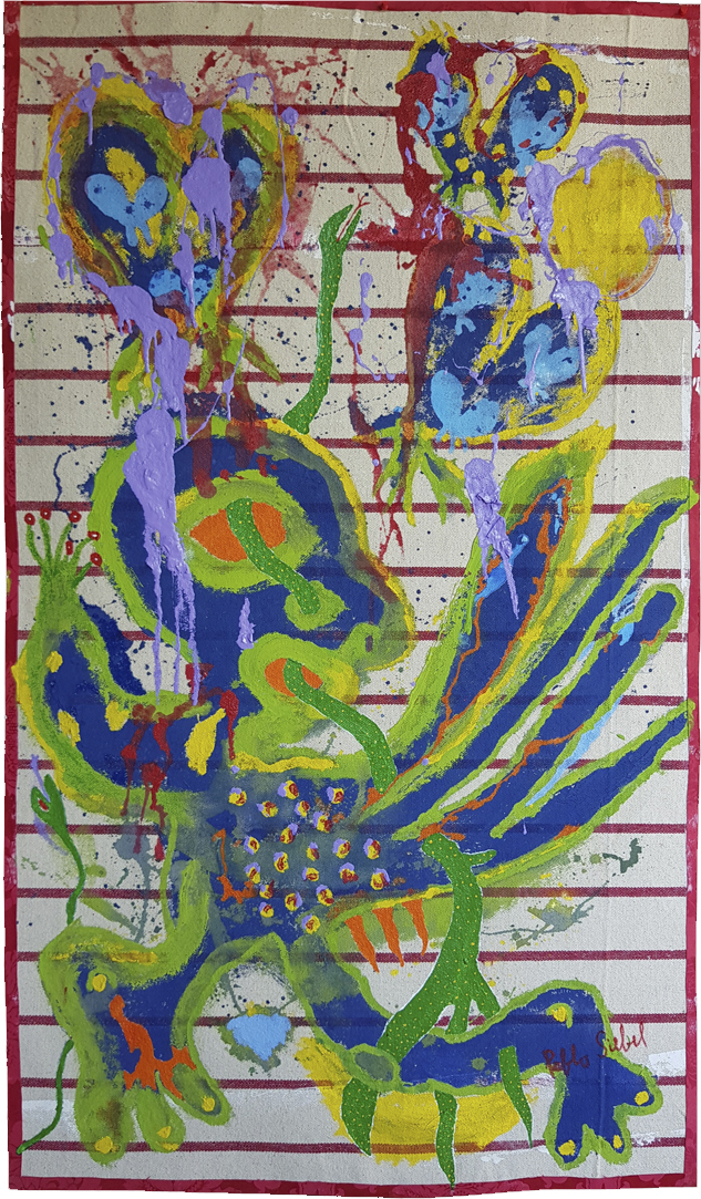 Corredor-acrylic-on-textile-145-x-84-cm