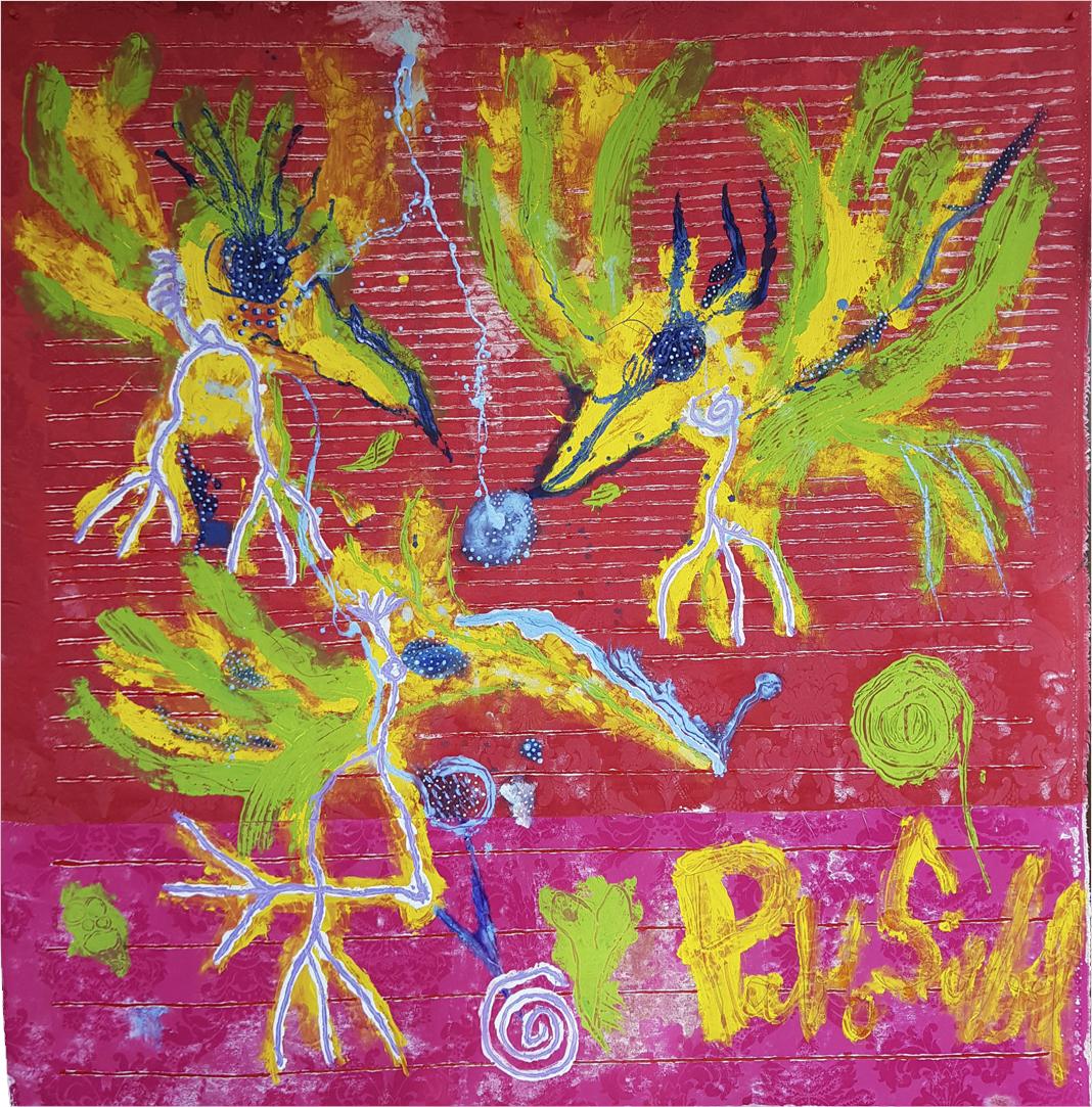 Pájaros-acrylic-on-textile-140-x-137-cm