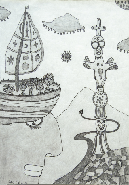 dibujo de cuarentena